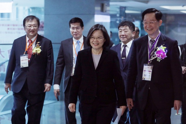 Taiwan President Tsai Ing-wen (middle)(Photo/Office of the President)