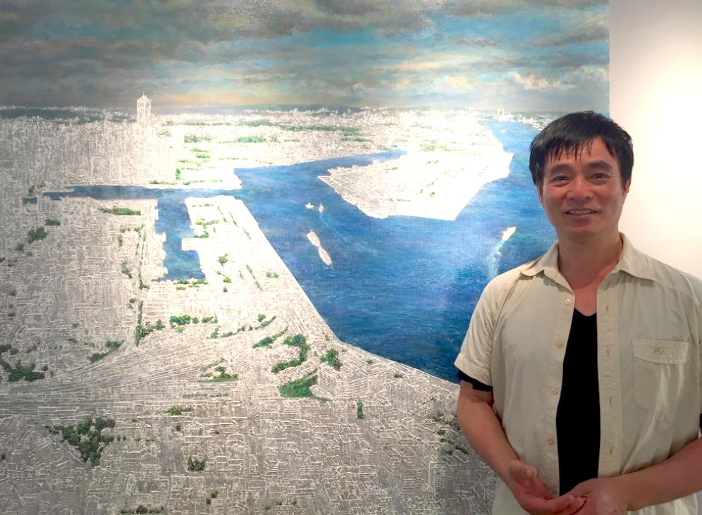 藝術家洪天宇系列作品「城市方舟」,受邀於台中陸府植深館展出(圖/台灣英文新聞 Lyla)