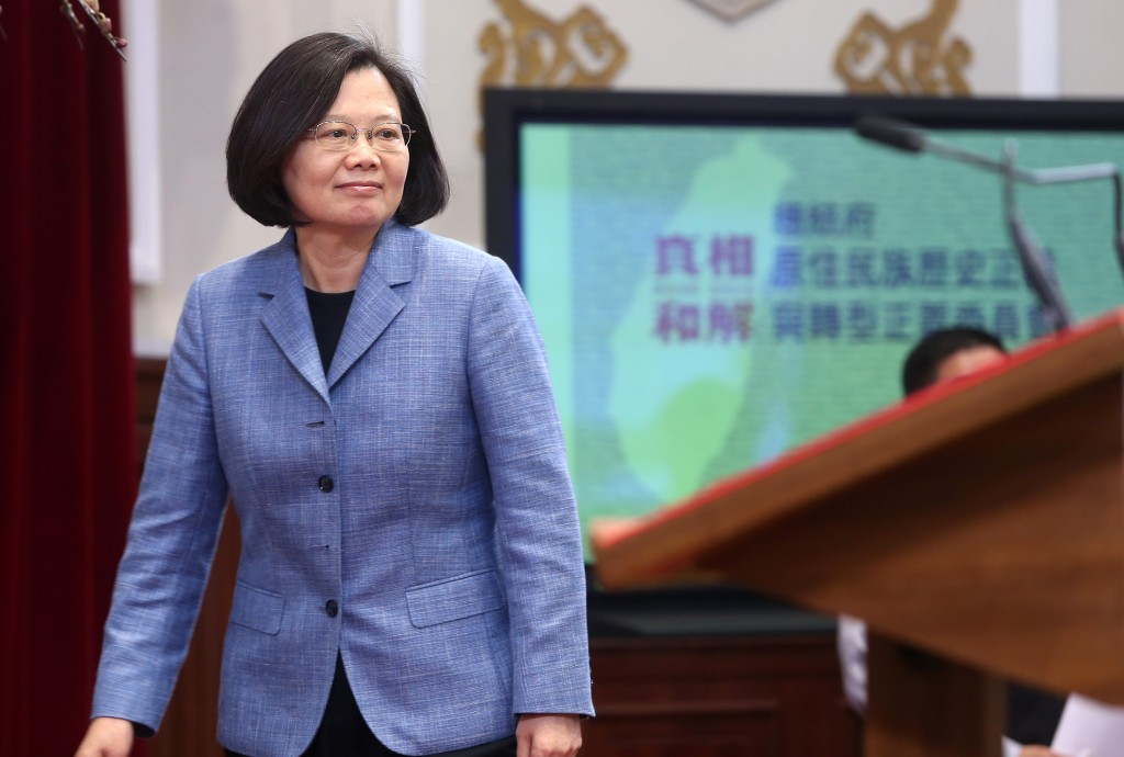 Tsai Ing-wen at the Presidential Office Building