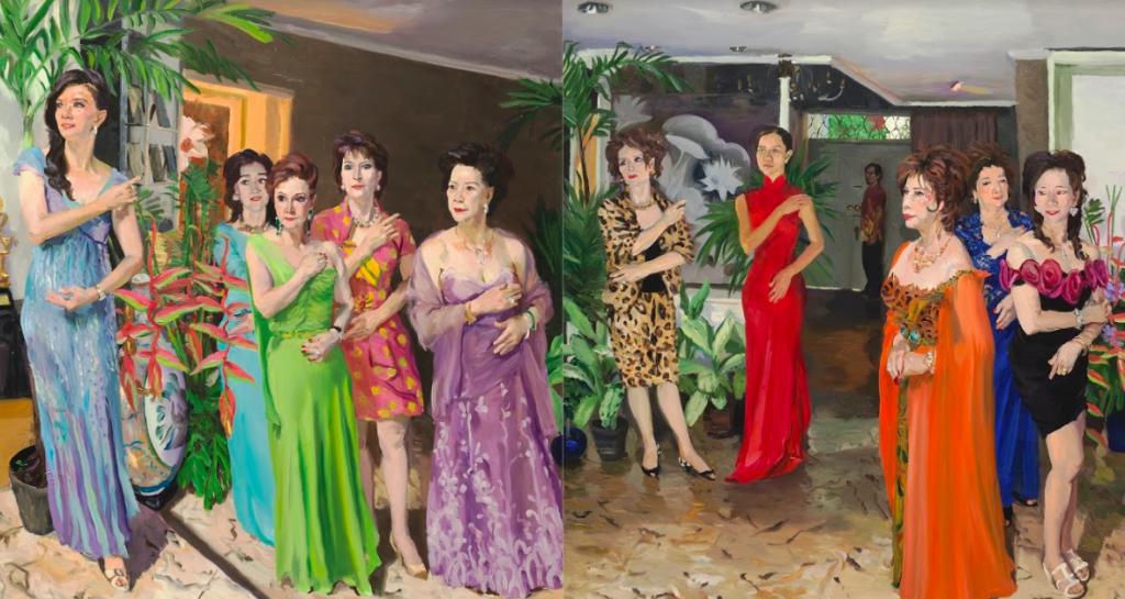 誠品畫廊將於香港巴塞爾藝術節,展出中國藝術家劉小東作品(圖/誠品畫廊提供劉小東作品「記憶樹」)