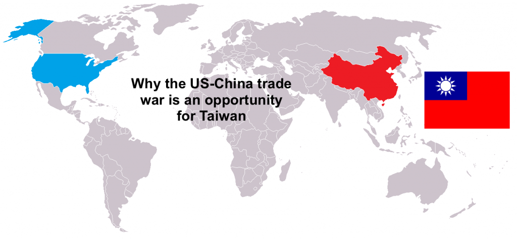 Why The Us China Trade War Is An Opportunity Taiwan News - China-and-us-map