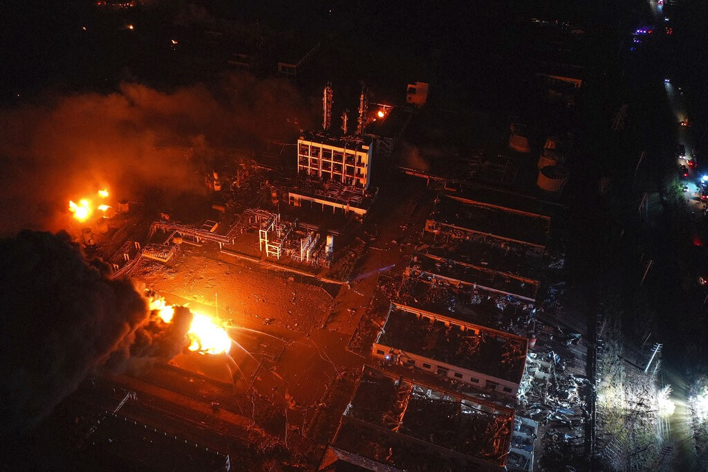 China chemical plant explosion kills six in Yancheng