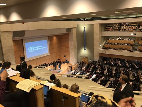 The annual World Health Assembly in Geneva.