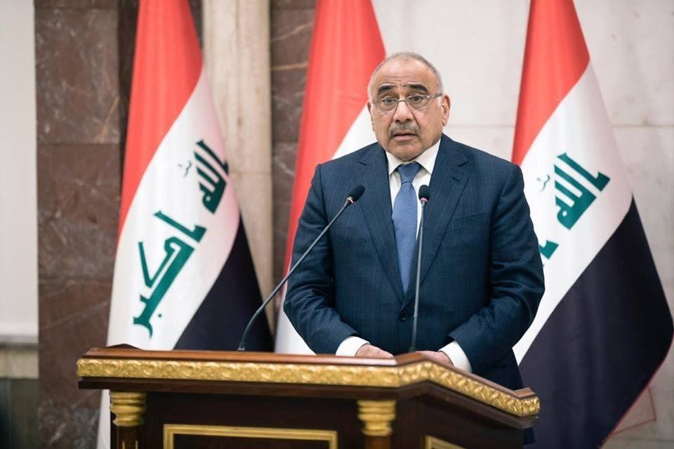 伊拉克總理馬帝(圖)視察事故現場時宣布舉國哀悼3天。(圖/facebook.com/Adil.Abd.Al.Mahdi1)