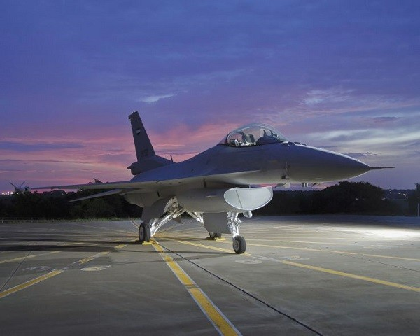 The F-16V fighter jet (image courtesy of Lockheed Martin).