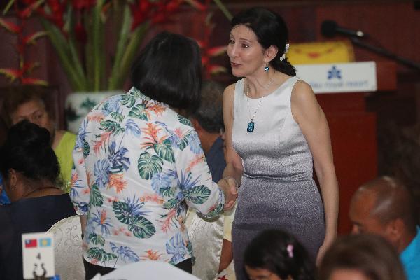 US Ambassador to Palau Amy J. Hyatt meets President Tsai