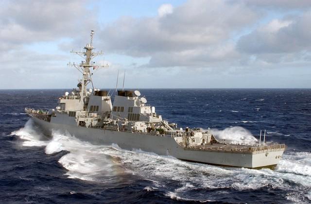 美國海軍柯蒂斯韋伯號驅逐艦(Curtis Wilbur)驅逐艦。(翻攝美國海軍網站)