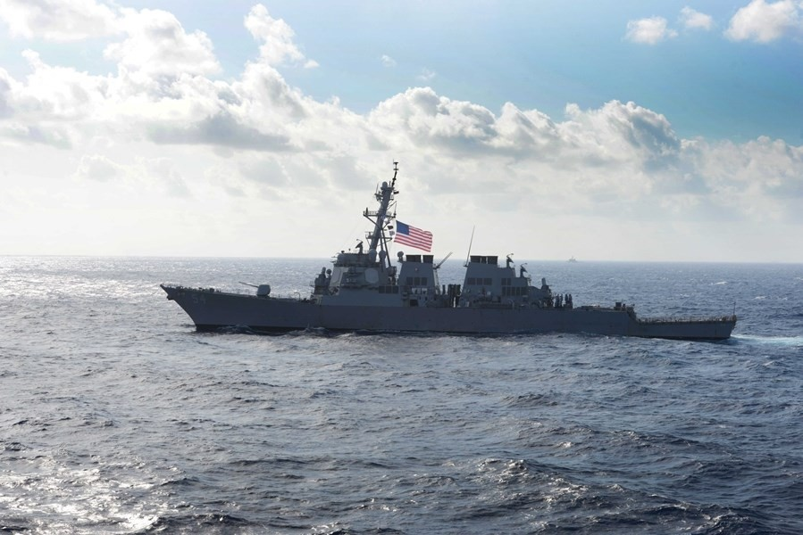US destroyer Curtis Wilbur. (Image from facebook.com/DDG54)