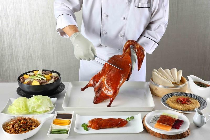 新北第一粵菜餐廳「望月樓」 招牌烤鴨五吃