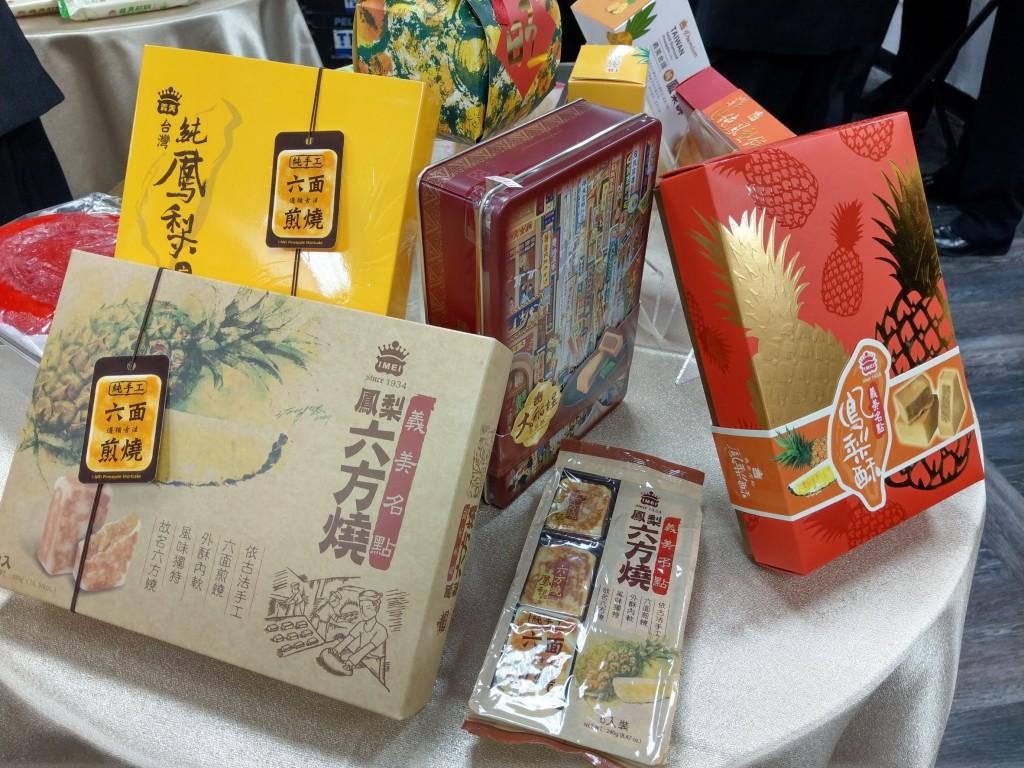義美販售各式鳳梨糕餅。(圖/台灣英文新聞)