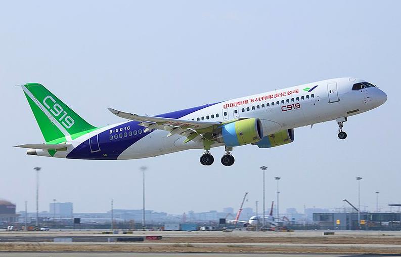 中國商用飛機(COMAC)C919(圖/維基百科)
