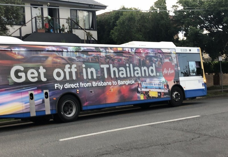 Bus with controversial advertisement. (Image from Twitter)