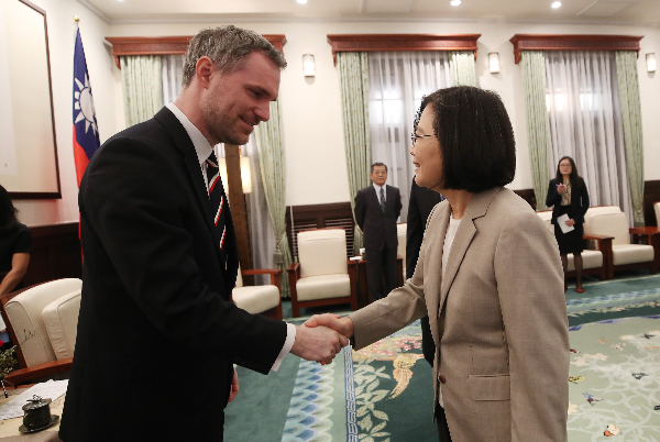 Tsai Ing-wen and Prague Mayor Zdenek Hrib