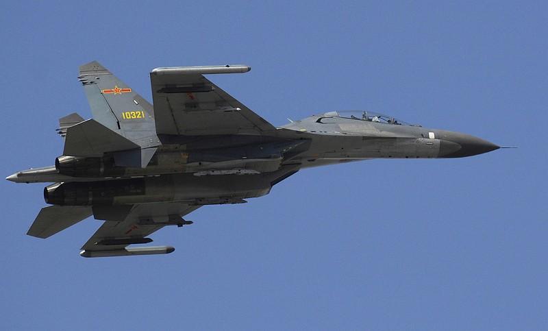 中共殲11戰機(圖/維基百科)