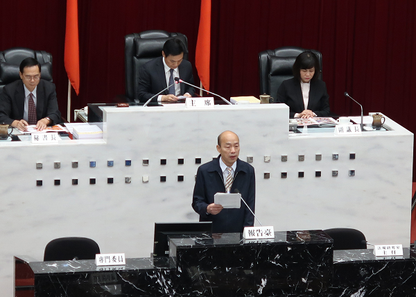 Mayor Han addresses Kaohsiung City Council