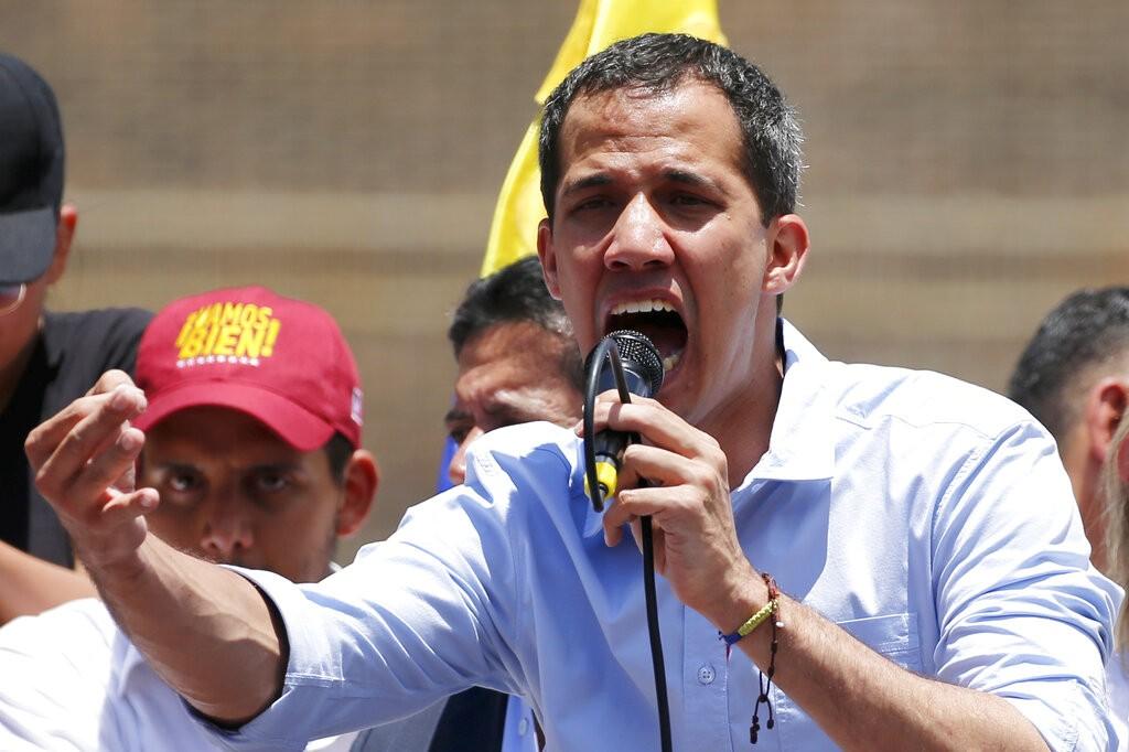 圖為委內瑞拉反對派領導人瓜伊多(Juan Guaido)(圖/美聯社)