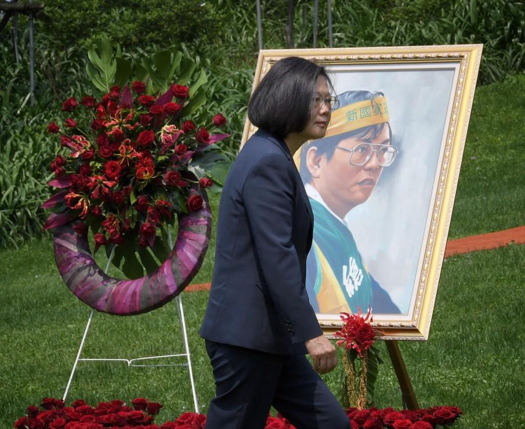 總統蔡英文7日出席鄭南榕追思紀念會(照片來源:中央社提供)