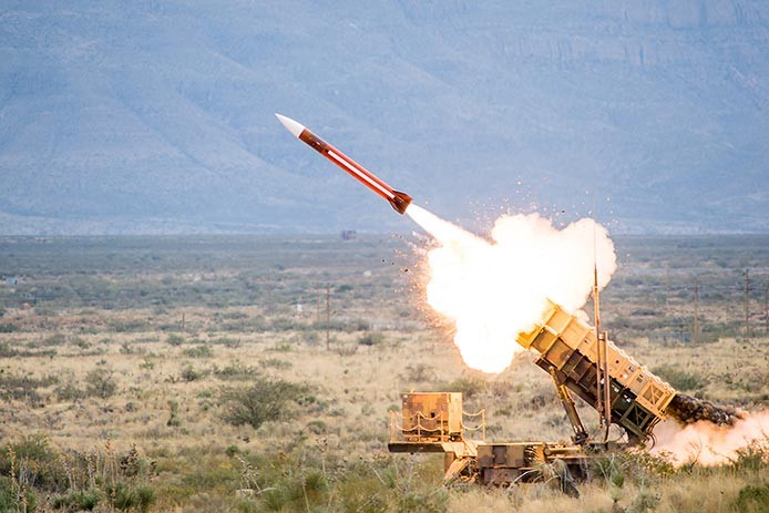 Patriot Missile Defense System launch (Photo from Raytheon)