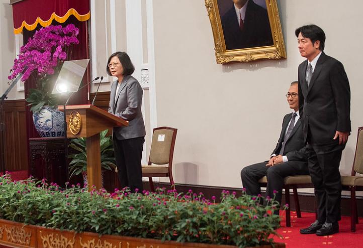 民進黨主席卓榮泰表示,蔡英文(左)與賴清德(右)已於8日下午見面(圖/總統府flickr)