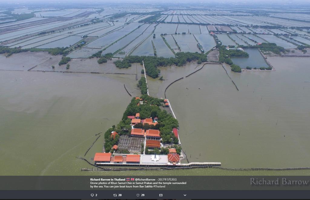 (圖片翻攝自推特用戶Richard Barrow in Thailand網頁)