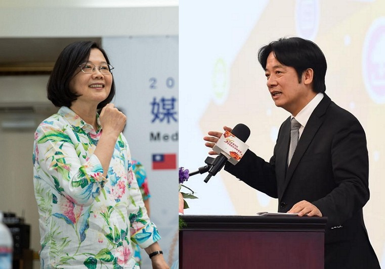 Photos/FB pages of Tsai and Lai