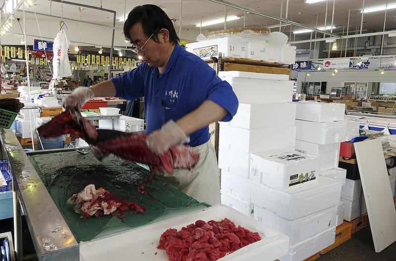 A fish vendor in Fukushima 2017