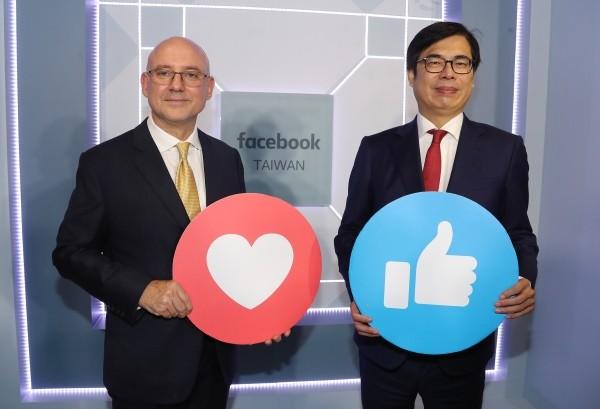 Dan Neary (left),  Chen Chi-mai (right).
