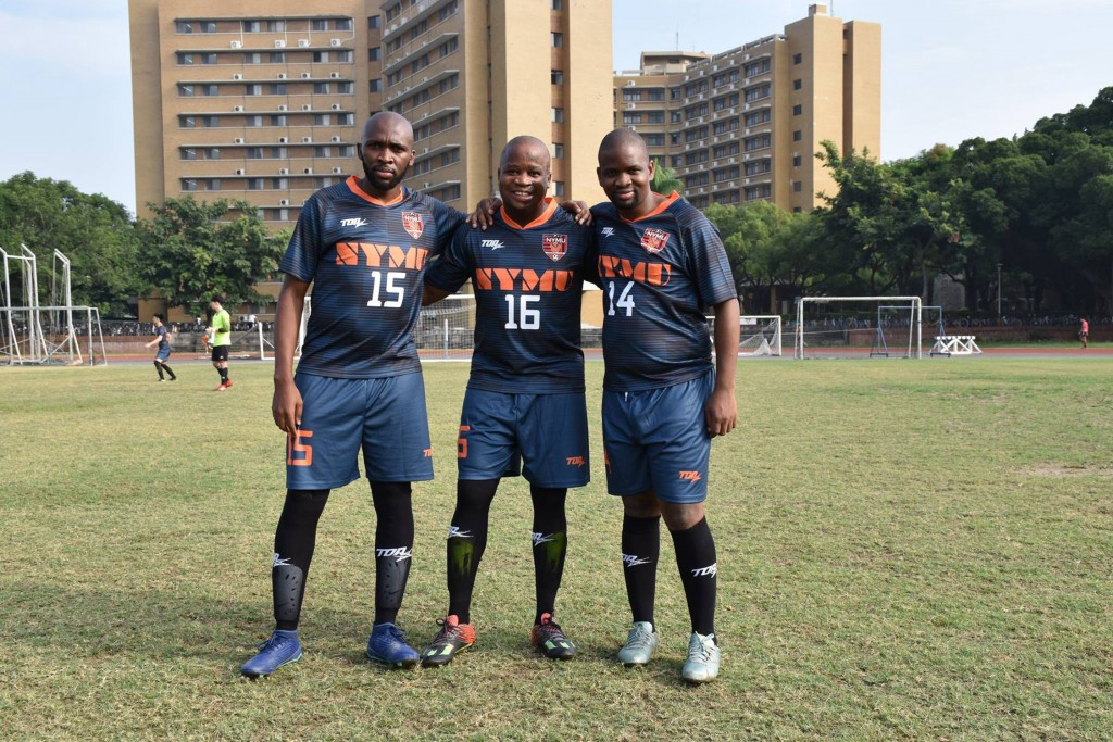 National Yang-Ming University's football team counts 3 players from eSwatini (photo courtesy of NYMU)