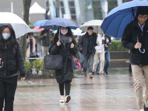 The Central Weather Bureau predicts a rainy week.