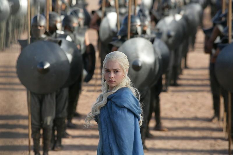 "Emilia Clarke in a scene from ""Game of Thrones."" (HBO via AP)"