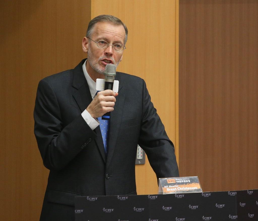 AIT處長酈英傑發表專題演講。(中央社)
