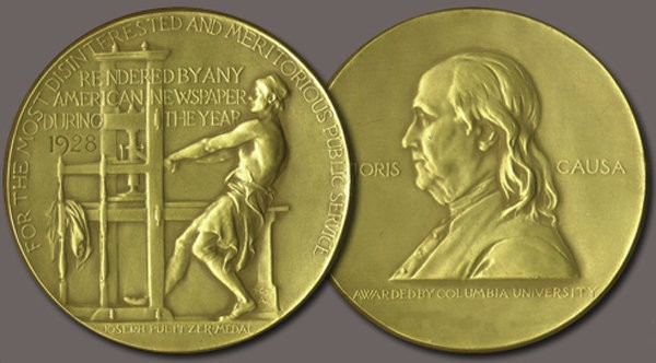 The Pulitzer Prize gold medal award