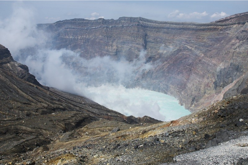 山 火山灰 阿蘇