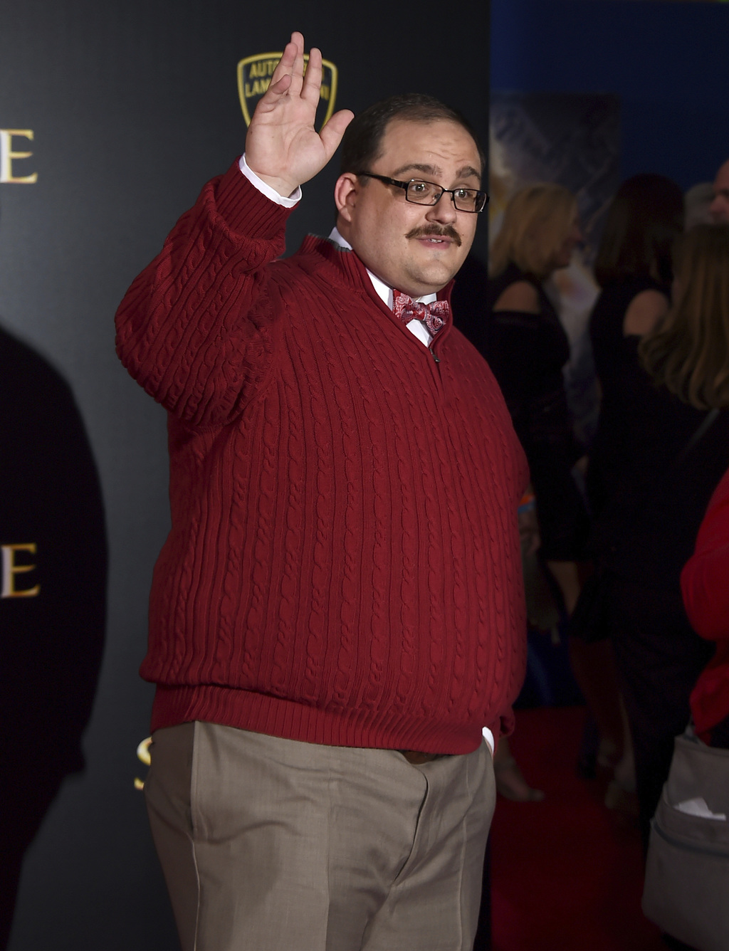 """FILE - In this Oct. 20, 2016 file photo, Ken Bone arrives at the Los Angeles premiere of """"Doctor Strange"""" at the TCL Chinese Theatre. B..."""
