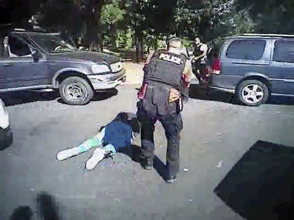 FILE - This image made from video provided by the Charlotte-Mecklenburg Police Department on Saturday, Sept. 24, 2016 shows Keith Scott...