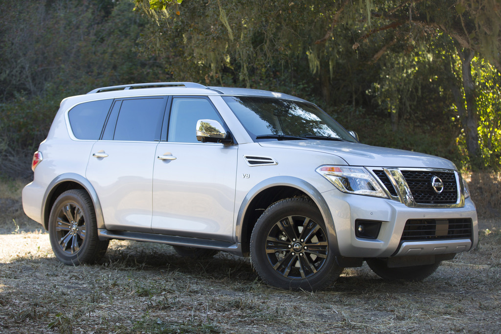 This photo provided by Nissan shows the 2017 Nissan Armada. The Nissan Armada is restyled and re-engineered for 2017 as a plush-riding,...