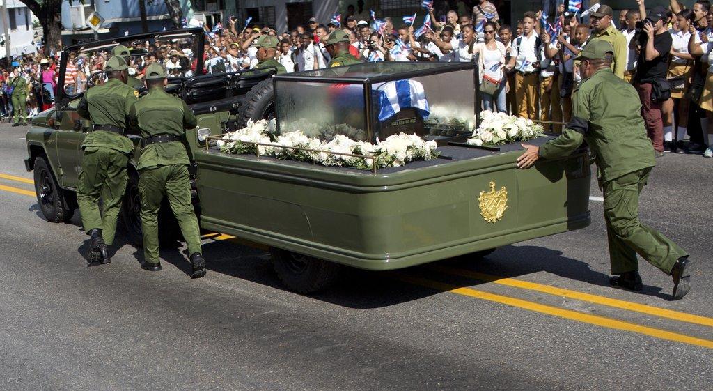 Image result for funeral fidel castro
