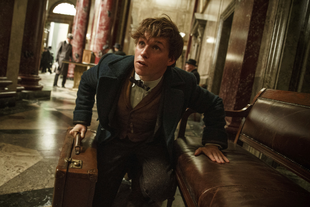 """This image released by Warner Bros. Entertainment shows Eddie Redmayne in a scene from, """"Fantastic Beasts and Where to Find Them."""" (Jaa..."""