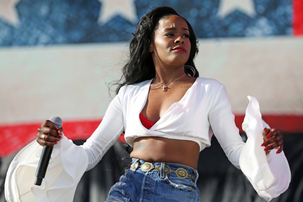 FILE - In this April 10, 2015 file photo, Azealia Banks performs at the 2015 Coachella Music and Arts Festival in Indio, Calif. Los Ang...