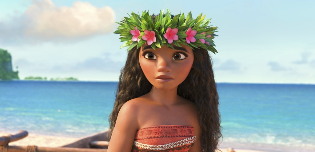 """This image released by Disney shows Moana, voiced by Auli'i Cravalho, in a scene from the animated film, """"Moana."""" (Disney via AP)      ..."""