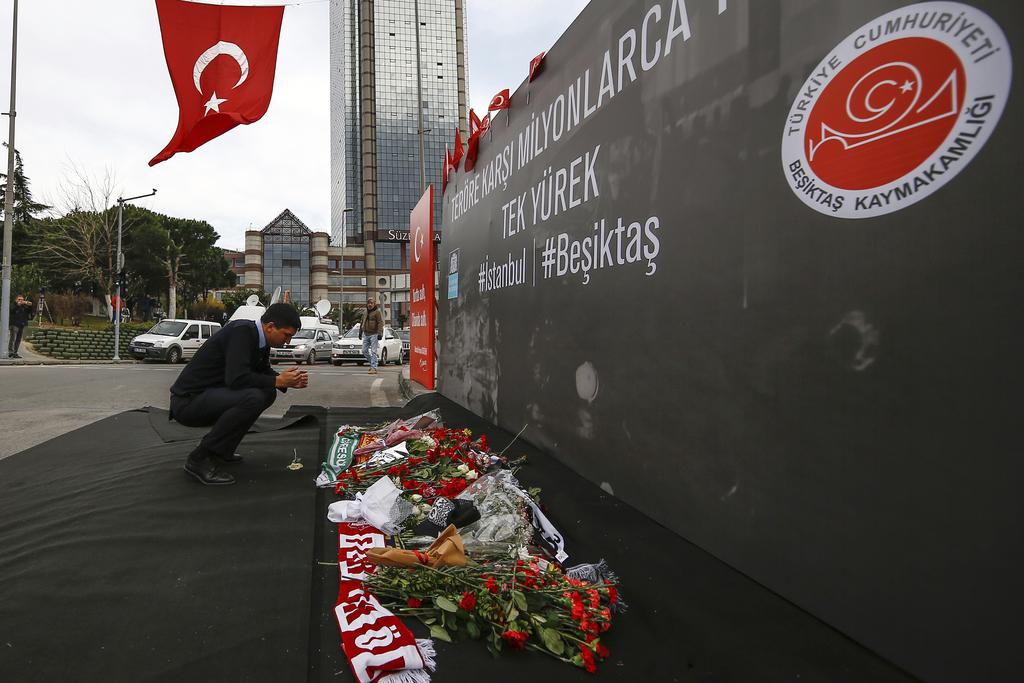 A Man Prays Outside The Besiktas Football Club Stadium Vodafone Arena In Istanbul Monday