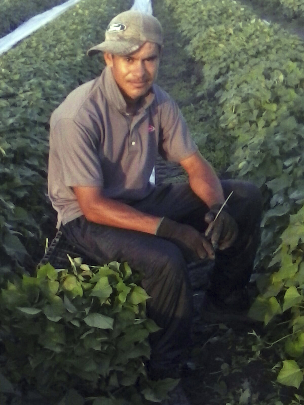 ADVANCE FOR USE FRIDAY, DEC. 23, 2016 AND THEREAFTER-This Aug. 23, 2015 photo provided by his family via the Migrant Farmworker Justice...