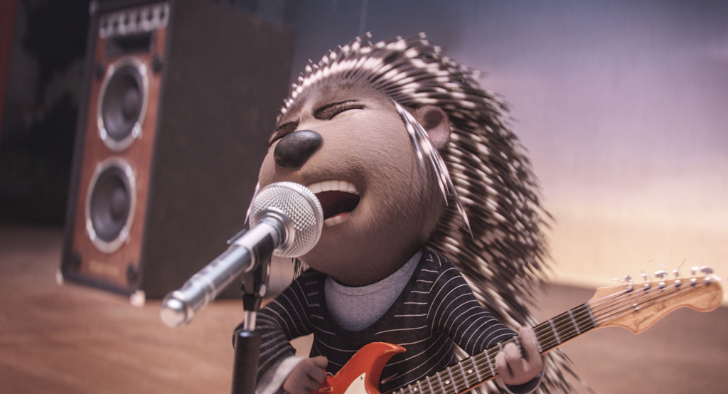"""This image released by Universal Pictures shows Ash, voiced by Scarlett Johansson, in a scene from """"Sing."""" (Illumination Entertainment/..."""