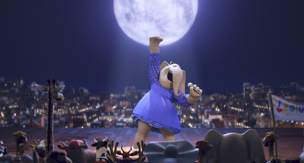 """This image released by Universal Pictures shows Meena, voiced by Tori Kelly, in a scene from """"Sing."""" (Illumination Entertainment/Univer..."""
