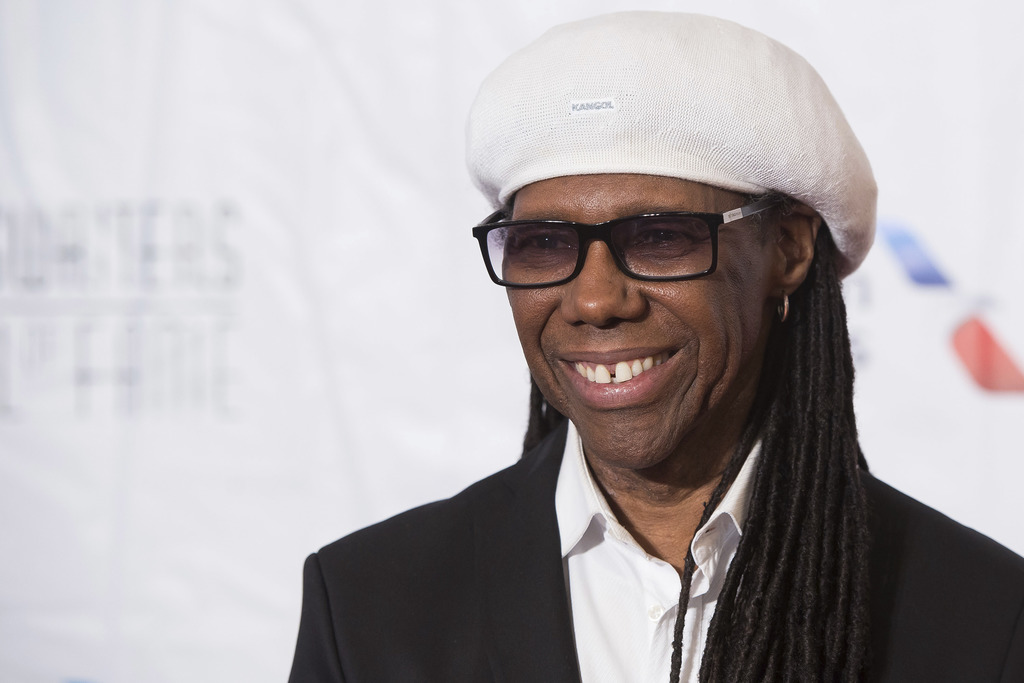 FILE - In this June 9, 2016 file photo, inductee Nile Rodgers attends the 47th Annual Songwriters Hall of Fame Induction Ceremony and A...