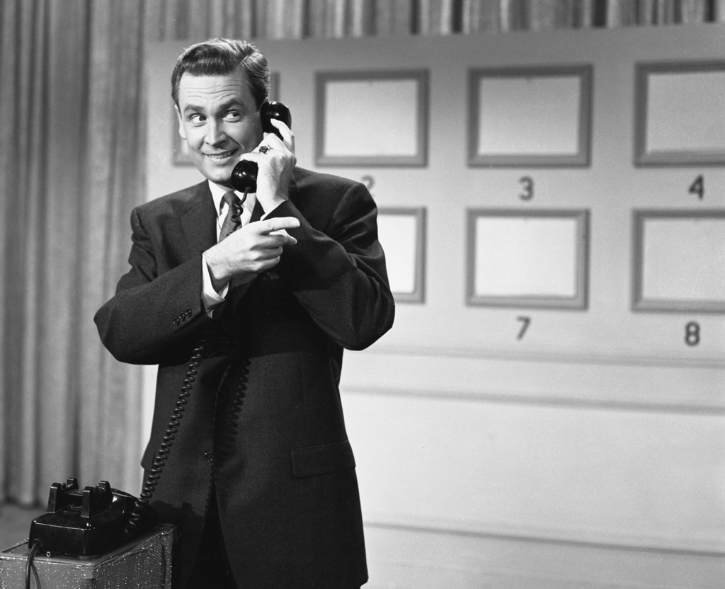 """This 1958 photo released by NBC shows Bob Barker, host of the game show """"Truth or Consequences."""" On January 22, 1957, the game show """"Tr..."""