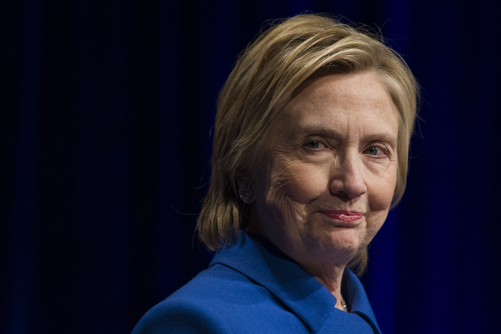 FILE - In this Wednesday, Nov. 16, 2016, file photo, Hillary Clinton addresses the Children's Defense Fund's Beat the Odds celebration ...