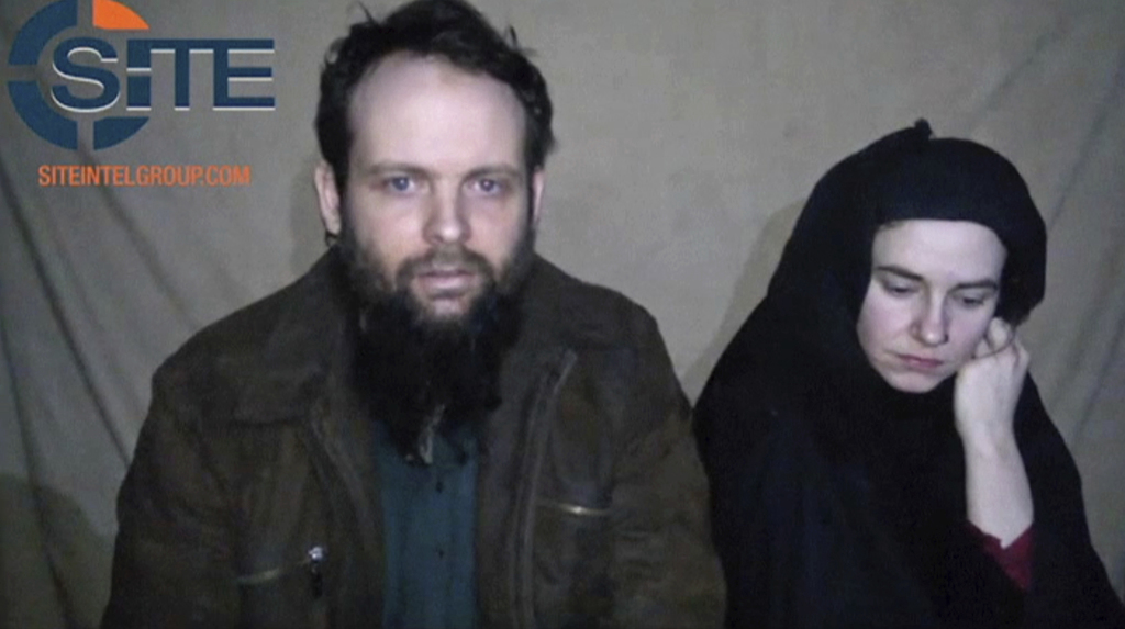 FILE - This undated militant file image from video posted online in August 2016, which has not been independently verified by The Assoc...