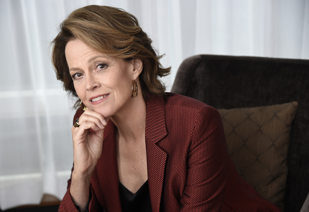 """FILE - This Sept. 10, 2016, file photo shows Sigourney Weaver posing for a portrait at the Shangri-La Hotel to promote her film,  """"A Mo..."""
