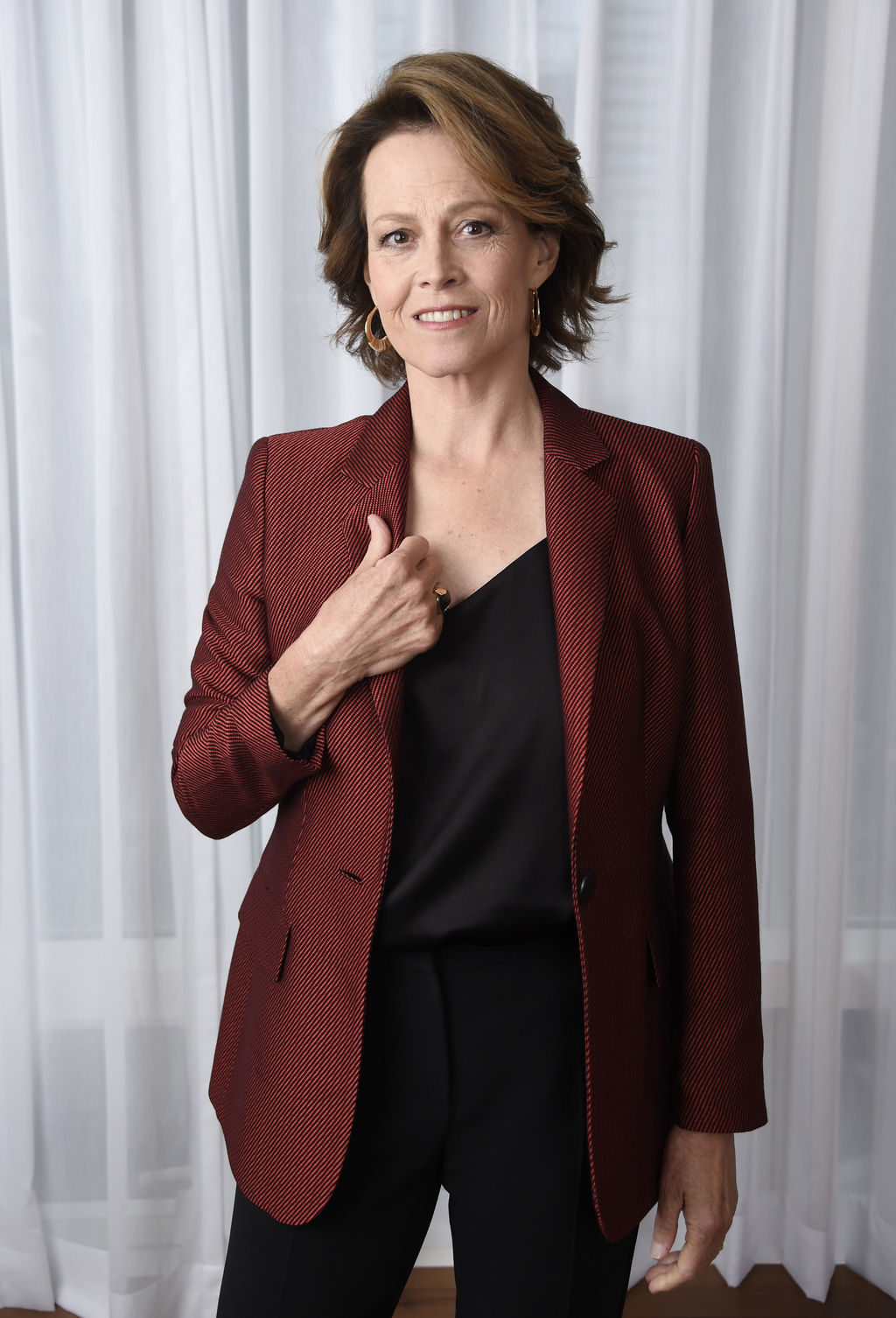 """FILE - This Sept. 10, 2016 file photo shows Sigourney Weaver posing for a portrait at the Shangri-La Hotel to promote her film,  """"A Mon..."""